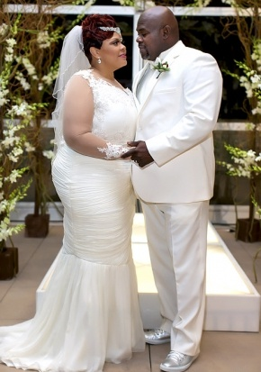 Tamela and David Mann reaffirmed their vows in front of loved ones in Dallas, Texas