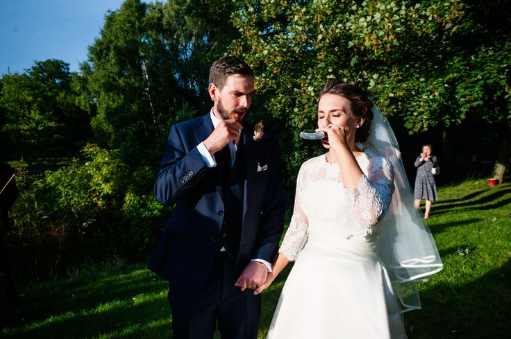 Sunshine, fresh air and a big swig from a hip flask from the bride, at a wedding at Dewsall Court Herefordshire © Babb Photo