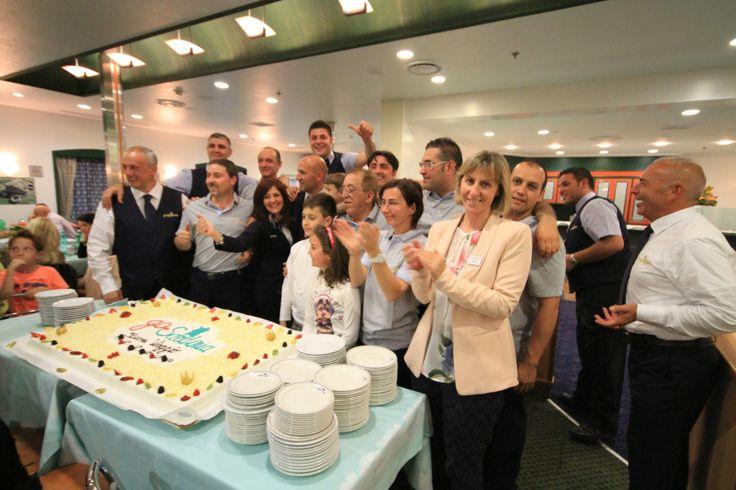inaugurazione Stagione 2014 GoinSardinia - la Compagnia di navigazione da e per la Sardegna creata dai sardi (il momento del taglio degli applausi)