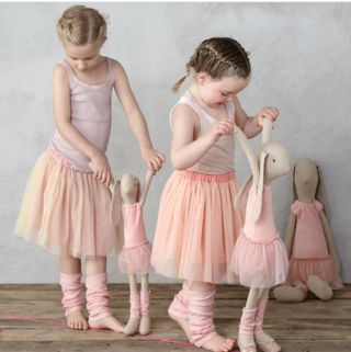 Maileg ballerina rabbit dolls. Our girls are pretty much dying for these.