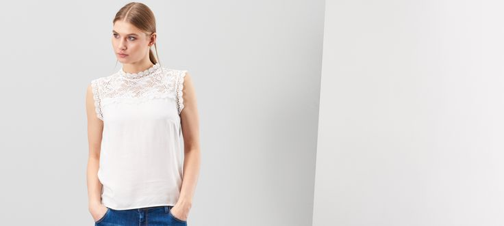 LADIES` BLOUSE, SHIRTS, biaŁy, RESERVED