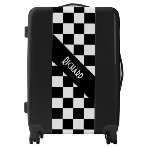 Checker  Flag Personalized Luggage
