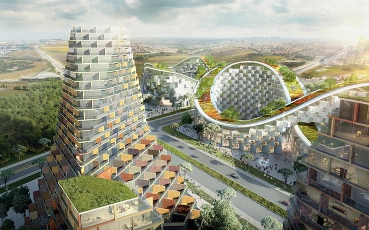 The new housing developments that have sprouted up during Istanbul's recent construction boom have created a skyline of solitary blocks without regard for their environment.In an attempt to offer a new typology for residential living,Julien De Smedt Architects has proposed plans for a vast community to be built between esenyurt and bahcesehir — an area currently experiencing rapid growth and ambitious planning.  Titled 'Istanbul Summits', the proposal for the four plots comprise...
