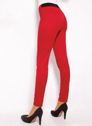 Pantalón largo tregging mujer elástico