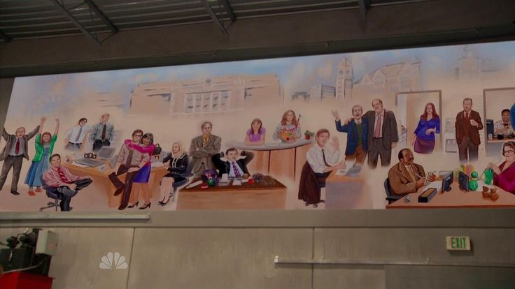 Pam's mural from The Office finale