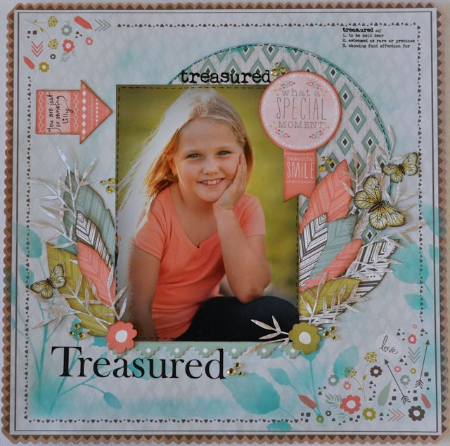 A boy layout made using the Bow & Arrow Collection from kaisercraft By Kelly-ann Oosterbeek. Butterflies available on Etsy https://www.etsy.com/au/listing/192646375/olive-printable-butterflies-in-3?ref=shop_home_active_12