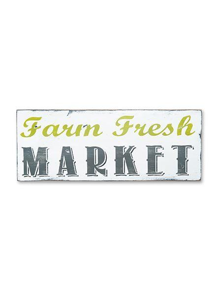 farm fresh market sign by barn owl primitives