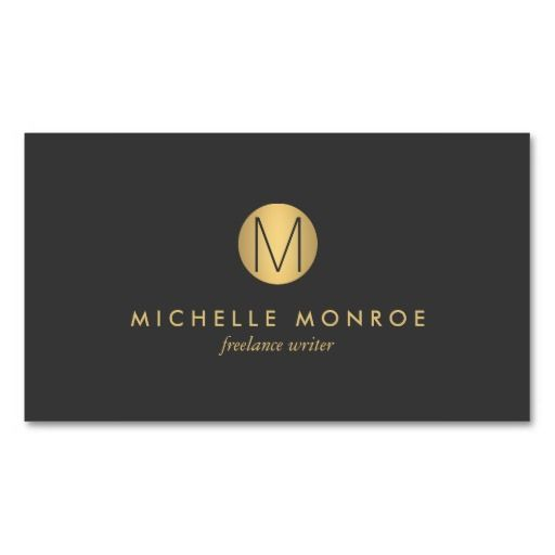 265 best business cards for networking personal use images on customize this business card template with your own initial and name business name stylish flashek Choice Image