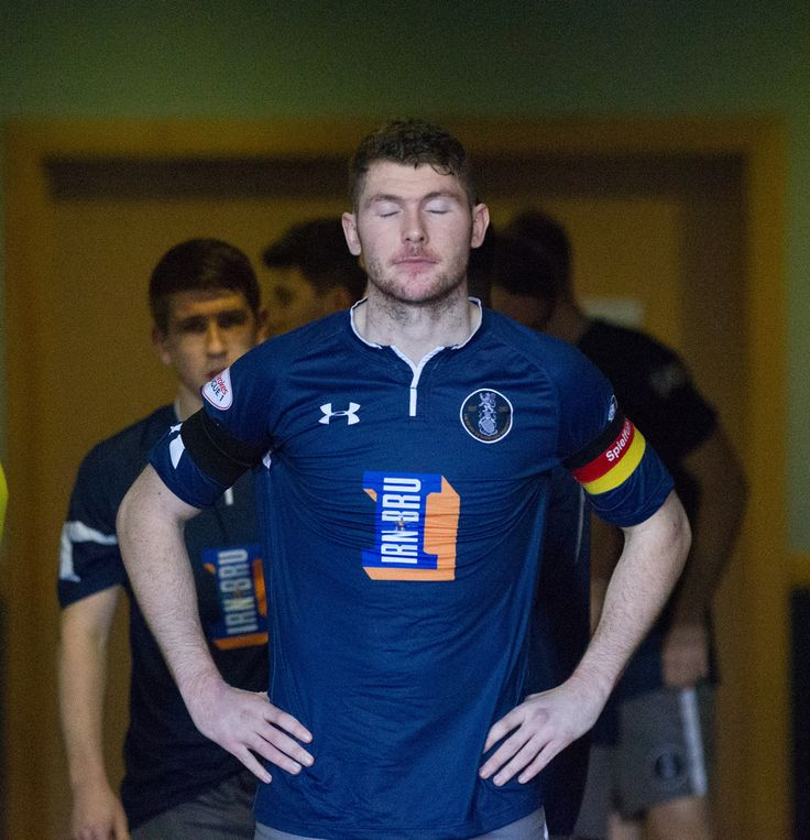 Queen's Park's captain Ryan McGeever before the Ladbrokes League One game between Queen's Park and Brechin City.
