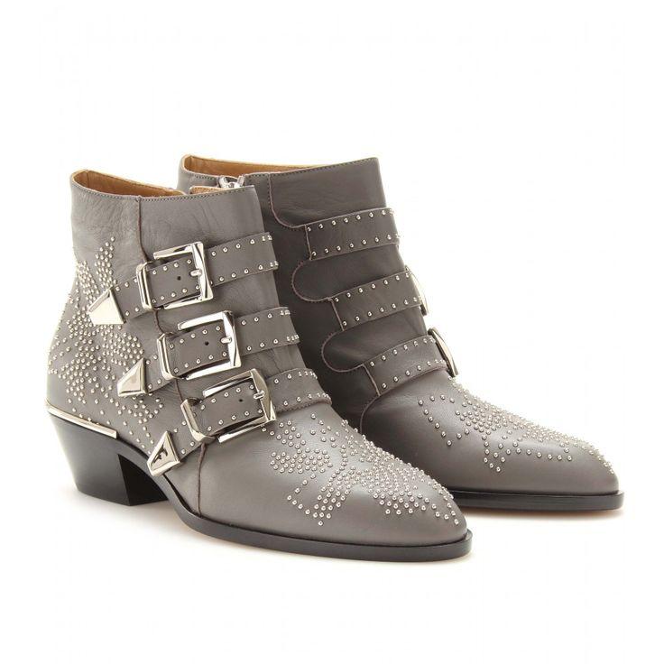 mytheresa.com - Chloé - BOTTINES EN CUIR SUSANNA - Luxe et Mode pour femme - Vêtements, chaussures et sacs de créateurs internationaux