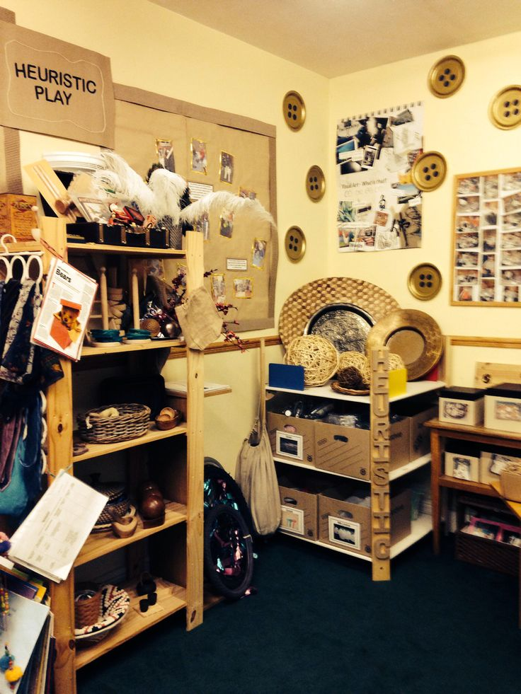 Our Heuristic Play area, full of provocations and inspirations! Field House Nursery,Newcastle upon Tyne, England.