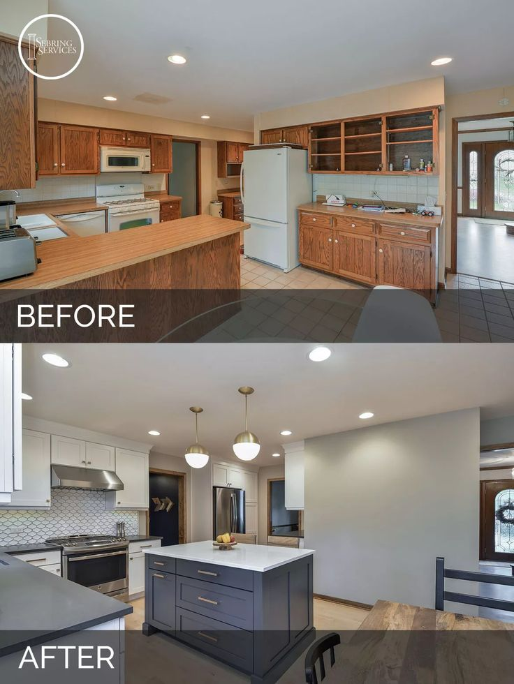 Justin carina s kitchen before after kitchen for Kitchen home improvement