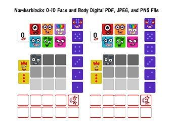 Numberblocks 0 100 Face and Body Stickers Waterproof ...