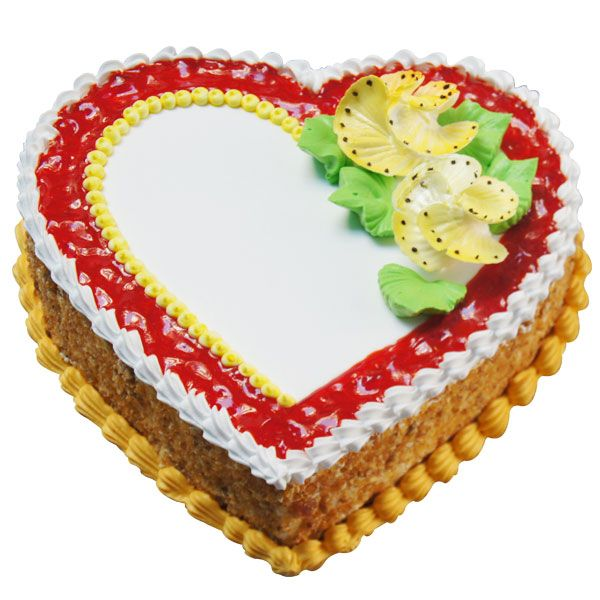 Heart to heart though miles apart, my love for you will never depart! This is the love-filled message you can convey to your better half or your partner with this yummy butterscotch, heart-shaped cake. Decorated with jelly and crumbs across the circumference, the Butterscotch and Jelly Cake speaks of love, closeness, and togetherness.