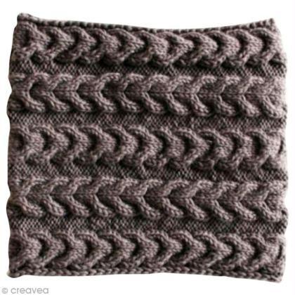 Tuto : Tricoter un snood à torsades inversées