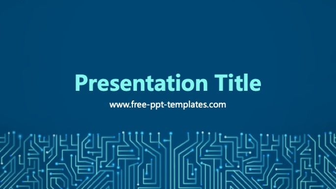 Circuit Powerpoint Template Powerpoint Templates Powerpoint Templates