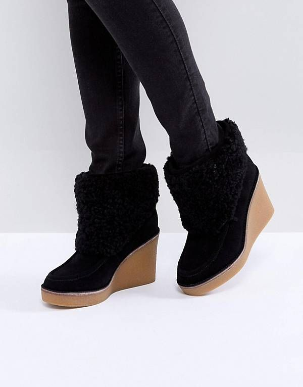 7470abbc33e UGG Coldin Cuff Wedge Boots | Shoes | Boots, Ugg boots, Wedge heel boots