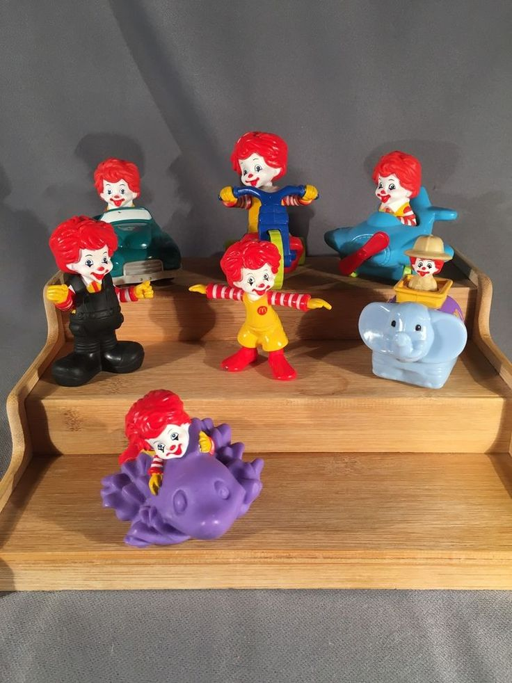 Ronald McDonald Toys McDonald's Happy Meal Toys Lot Of 7 #McDonalds