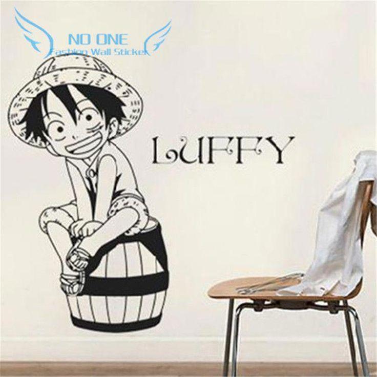 Creative diy wall art of japanese anime one piece luffy