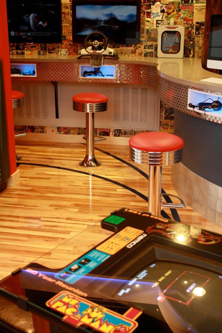 Love the idea of a retro arcade in a pediatric dentist office.