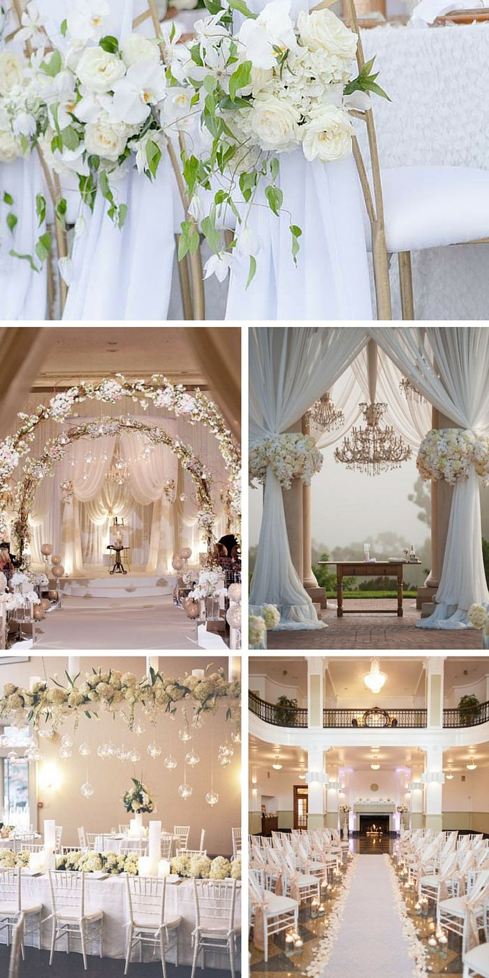 30 White Wedding Decoration Ideas. 15 Must see White Wedding Decorations Pins   White weddings