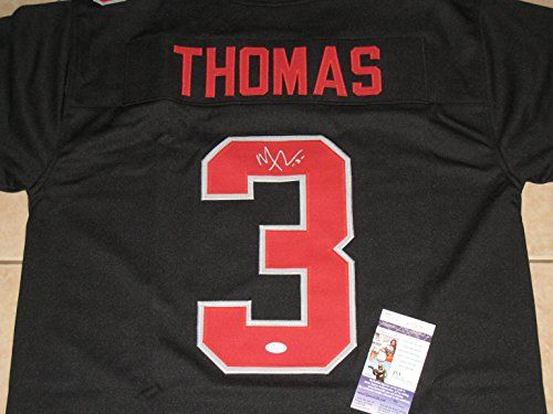 timeless design 03fac 160a7 Michael Thomas 3 Autographed Ohio State Buckeyes Custom Sewn ...