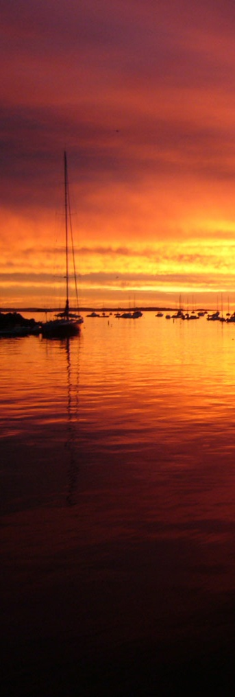 Sail away into this sunset: Maine
