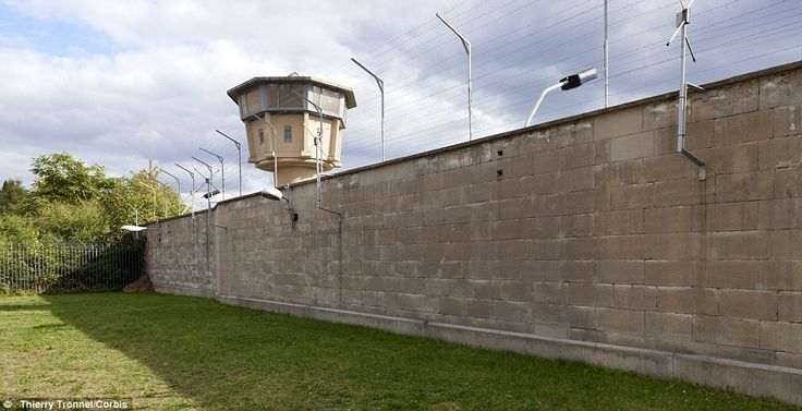 No escape: An exterior shot of Hohenschnhausen shows a watch tower looking out over the high prison walls