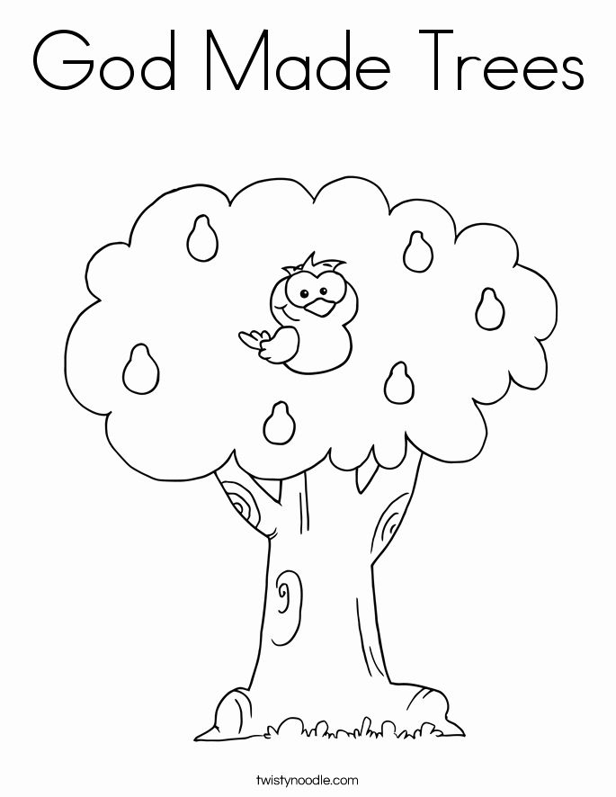 24 God Made Me Special Coloring Page In 2020 Tree Coloring