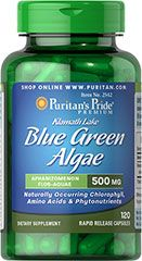 Klamath Lake Blue Green Algae 500 mg Klamath Lake Blue Green Algae grows naturally in the deep waters of Klamath Lake in Southern Oregon. It is one of only a few wildcrafted supplements available for consumption.  This extraordinary algae contains many phytonutrients, as well as chlorophyll, carotenoids, polyunsaturated fatty acids and the blue-green pigment called phycocyanin, which has been researched for its antioxidant and immune support properties.** 120 Capsules 500 mg $29.99