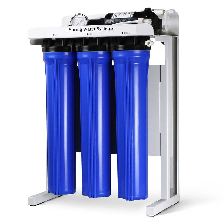 iSpring RCB3P 300 GPD Commercial Grade Reverse Osmosis Water Filter System w/ Booster Pump and Oversized Pre RO Filters
