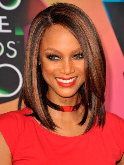 Straight Long Bob Haircut - Best African American Hairstyles for Women 2015