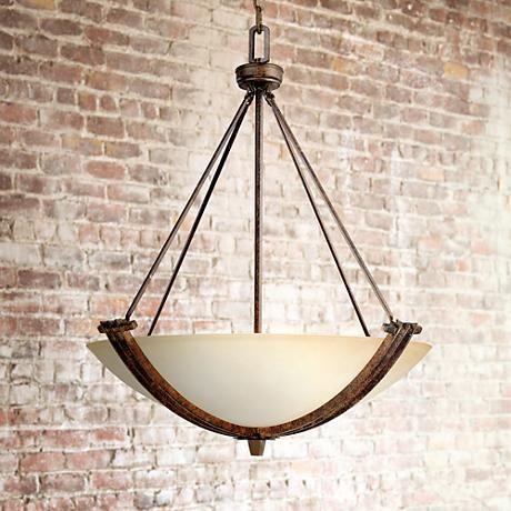 franklin iron works crossings three light pendant style