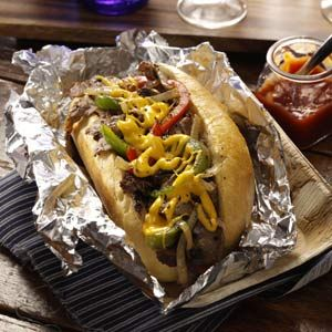 Pat's King of Steaks Philly Cheese Steak Recipe -This ultimate cheesesteak, an icon sandwich in Philly, is a best-seller at Pat's King of Steaks Restaurant. Patrons praise its thinly cut beef and crusty Italian rolls.—Frank E. Olivieri, Philadelphia, Pennsylvania