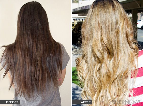 Dark Brown Hair To Blonde Hair Before And After How To Lighten