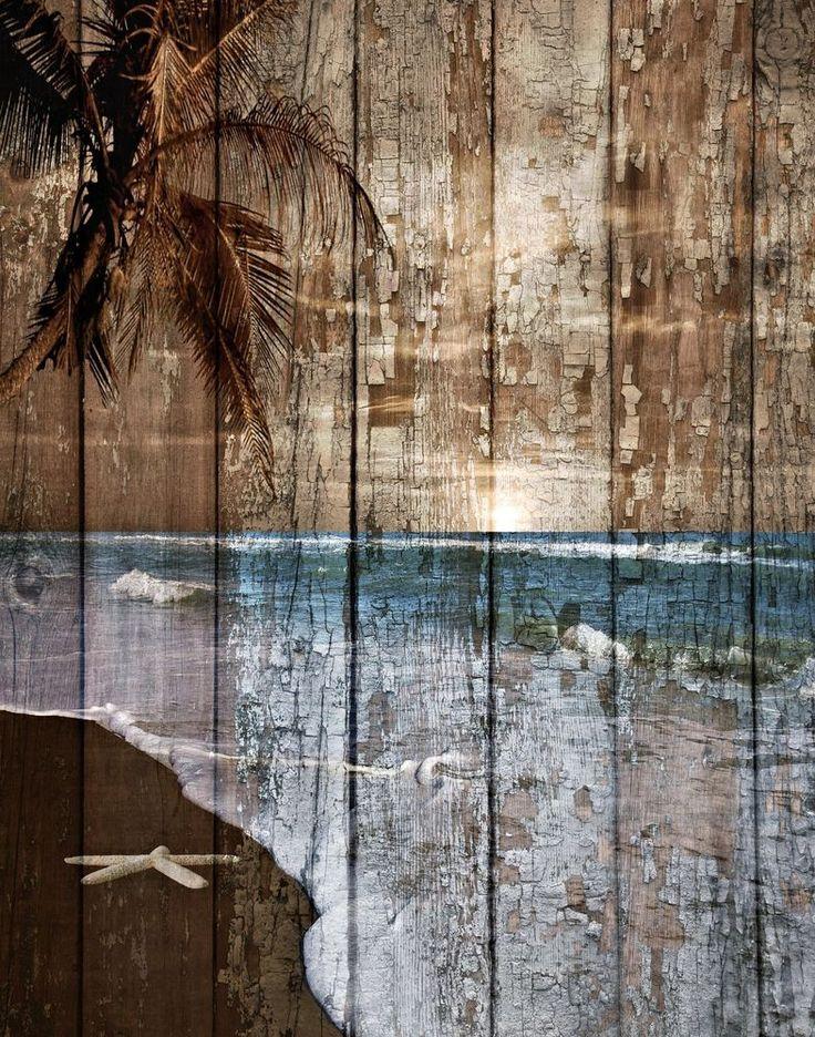 Beach Starfish Coastal Rustic Bathroom Bedroom Home Decor Matted Picture