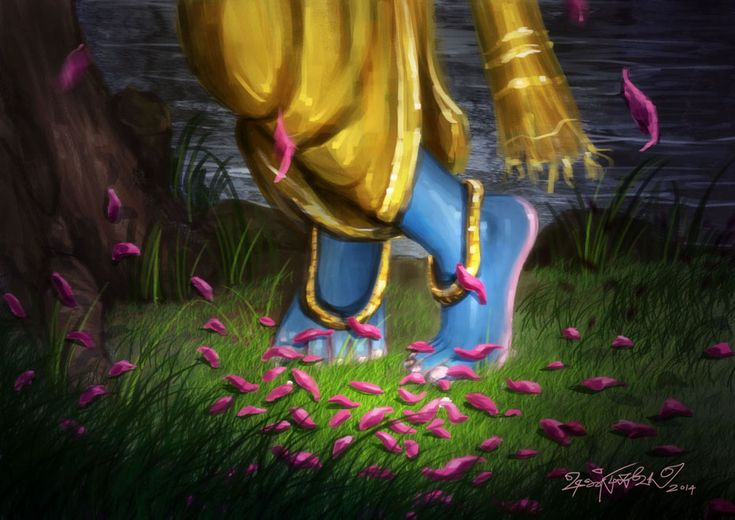 The Lotus Feet of Lord Shree Krishna.