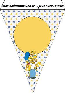 Os Simpsons – Kit Completo com molduras para convites, rótulos para guloseimas, lembrancinhas e imagens!  Fazendo a Nossa Festa