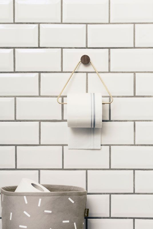 Holly's House - Brass Loo Roll Holder