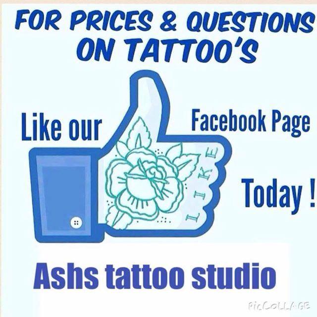 Ashs tattoo studio warrington 01925241734
