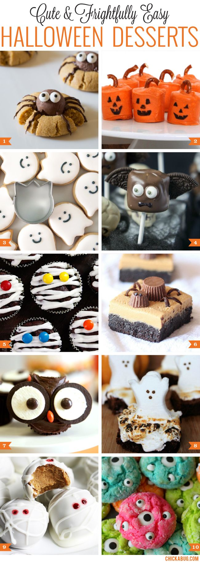 Cute and EASY Halloween desserts