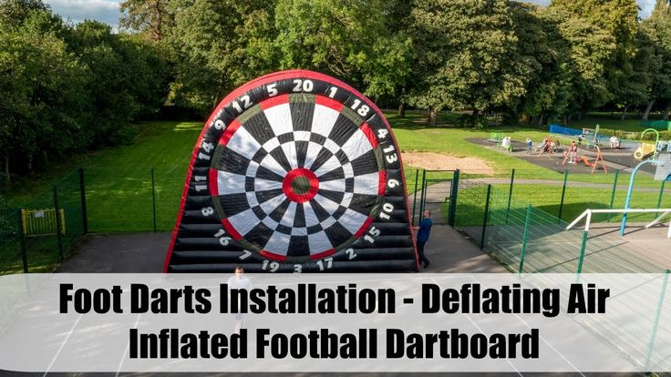 Foot Darts Installation - Deflating Air Inflated Football Dartboard