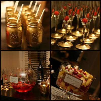 I'm really digging the gold for some reason..spray paint mason jars! Great idea #shoppricelesscontest #partywithpriceless #shoppriceless