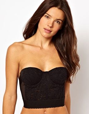 ASOS Boudoir CHERRY Padded Cupped Low Back Bandeau