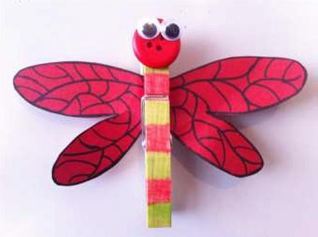 dragonfly peg magnet