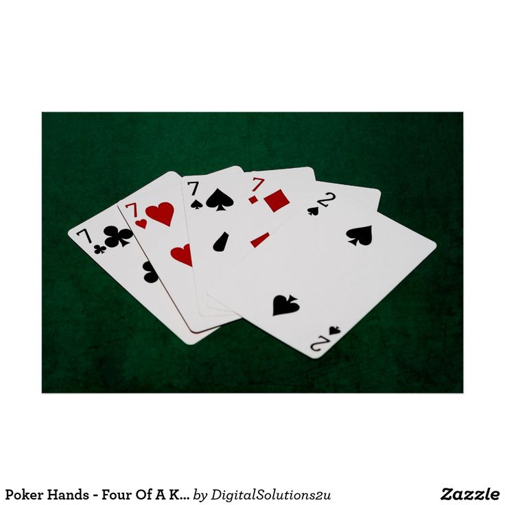 Poker Hands - Four Of A Kind - Sevens and Two Poster