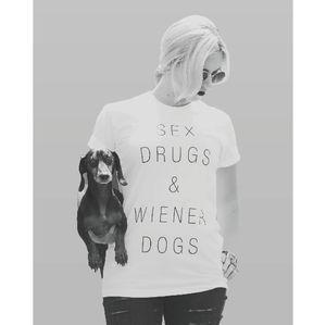sex drugs & wiener dogs tee