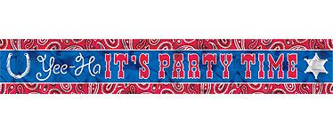 Cowboy banner til dekoration til din Cowboy temafest