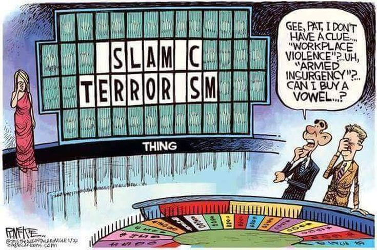 Cartoon Mocks Obama's Refusal to Say Islamic Terrorism | The Federalist Papers