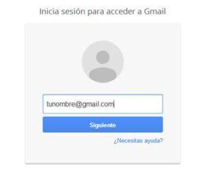 Entrar en mi correo Gmail